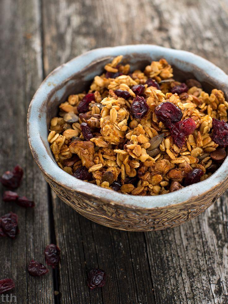 Cytrynowa granola z żurawiną (bez glutenu)