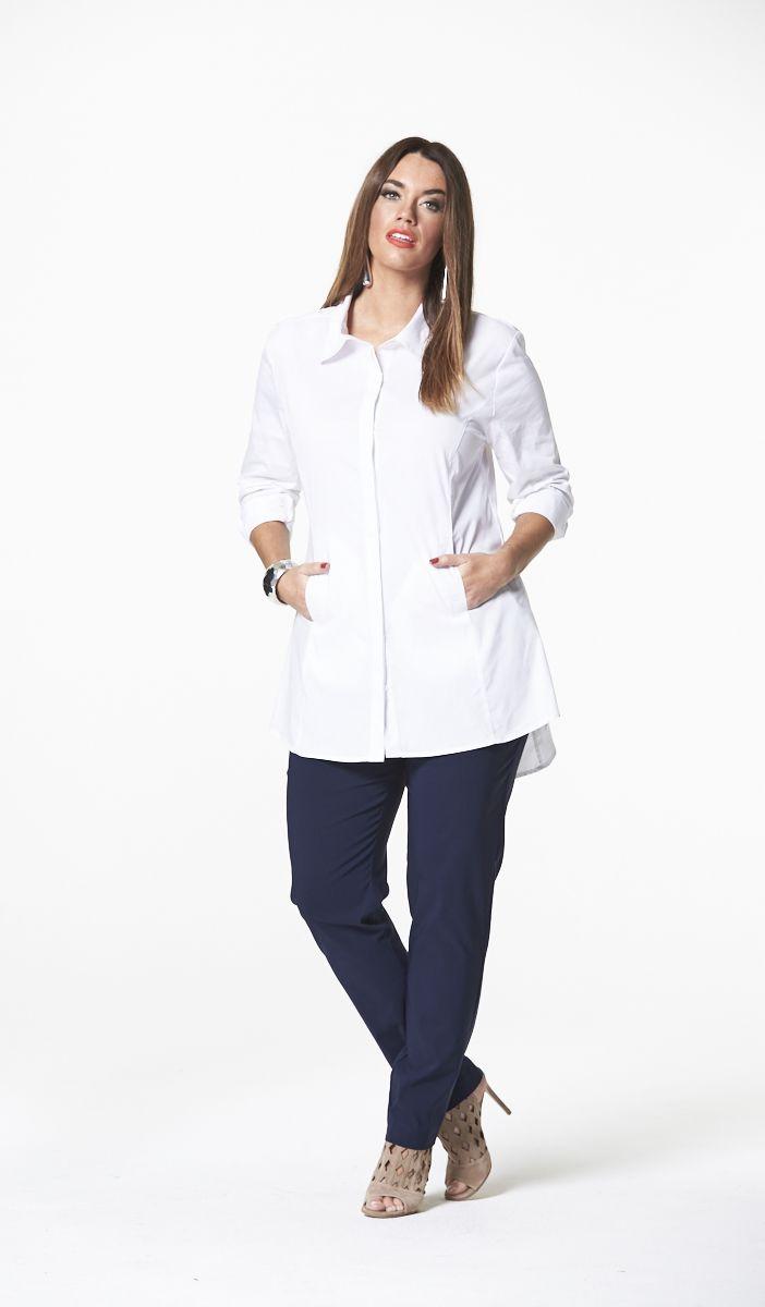The Classic White Shirt in White  #mysize #plussize #fashion #plussizefashion #spring #newarrivals #outfit