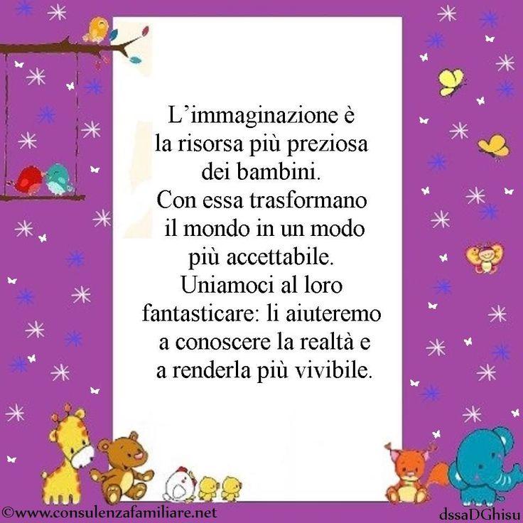 L'immaginazione è la risorsa più preziosa dei bambini per conoscere il mondo e renderlo, un po' di più, a loro misura. #educazione #figlio #crescita #infanzia #adolescenza #genitori #psicologiadellinfanzia #mamme #bambino #famiglia #papà #consulenzagenitoriale #psicopedagogia #dssaDGhisu