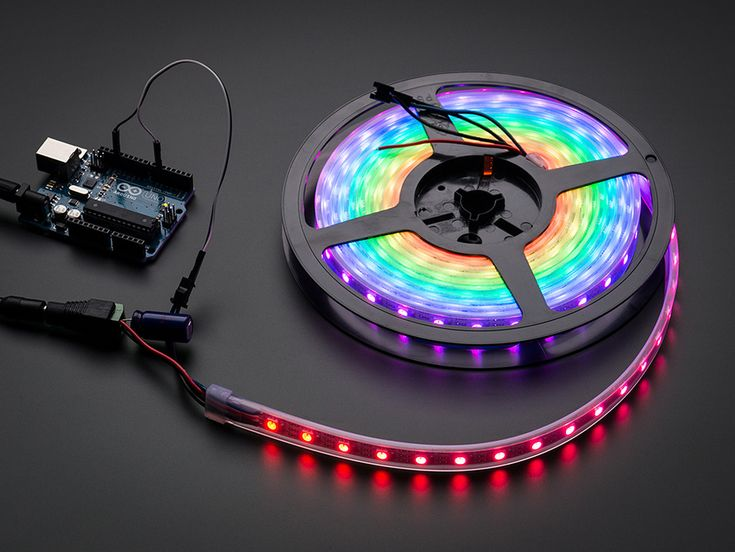 Adafruit NeoPixel Digital RGB LED Strip - White 60 LED - WHITE: You thought it couldn't get better than our world-famous 32-LED-per-meter Digital LED strip but we will prove you wrong! You wanted twice the LEDs? We got it (well, its 1.875 times as many but that's within a margin of error). You wanted thinner strips? Now only 12.5 mm wide, 10 mm if you remove the strip from the casing.