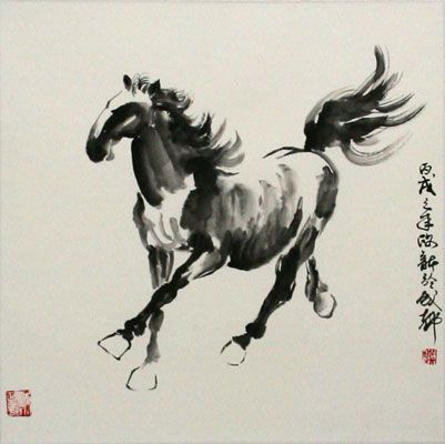 Chinese ink painting.