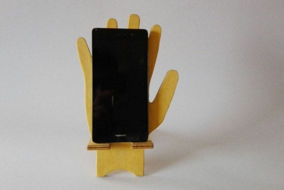 Soporte de madera teléfono gato sostenedor del teléfono para