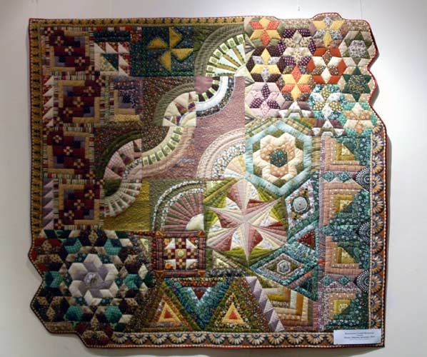 Hexagons, New York Beauty, Fans and more - a one of a kind made with a lot of traditional blocks