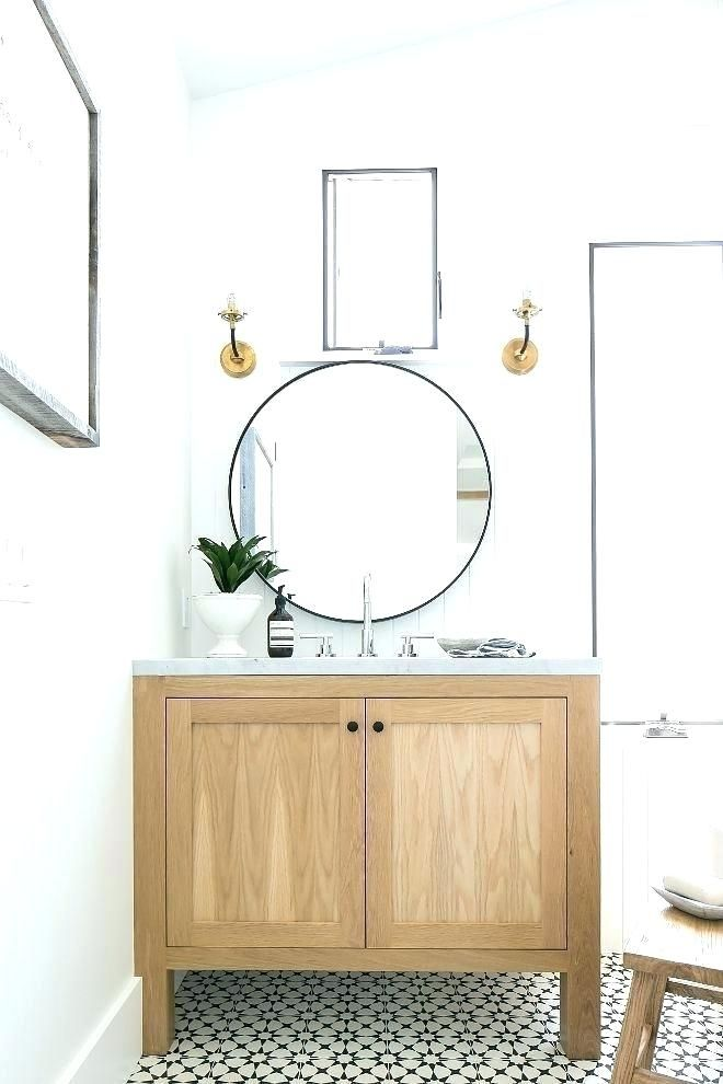 White Oak Vanity Bathroom Cabinets Intended For 30 Washed 30