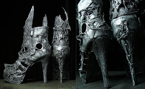 omg: Gothic Boots, Moon Gardens, High Heels Boots, Fashion Clothing, Zombie, Ankle Boots, Art Piece, Dark Side, Gothic Shoes