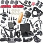 BAXIA TECHNOLOGY® GoPro Accessories Bundle Kit for GoPro Camera Camcorder GoPro Accessory Kit for GoPro HERO 4 Black GoPro HERO 4 Silver GoPro HERO 3  Black GoPro HERO 3 GoPro HERO 2 Gopro Hero Camera SJ4000 SJ5000 SJ6000 Sport Camera Accessory Kit Outdoor Sports Accessories Kit,Shockproof Carrying Case   Head Belt Strap Mount   Chest Belt Strap Mount   Extendable Handle Monopod   Floating Handle Grip   Car Suction Cup Mount Holder   360 Rotary Clip Mount   360 Degree Rotary Wrist Strap…