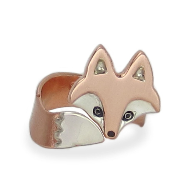 Wrap Around Fox Ring by WeldedHeart on Etsy