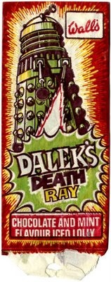 Dalek Death Ray Ice Lolly by Walls (1970s)   those we left behind Dalek ice cream history