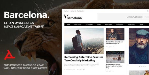 Barcelona v1.3.1 Clean News & Magazine WordPress Theme