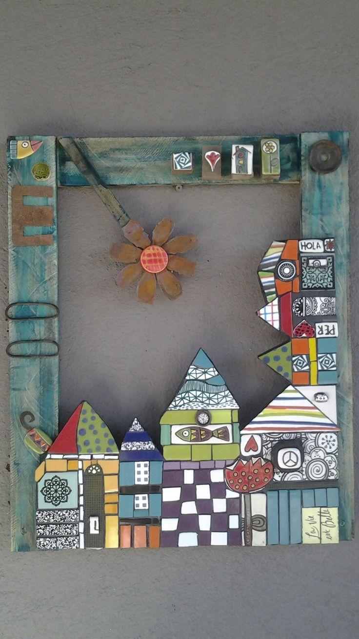 Mosaico/casitas