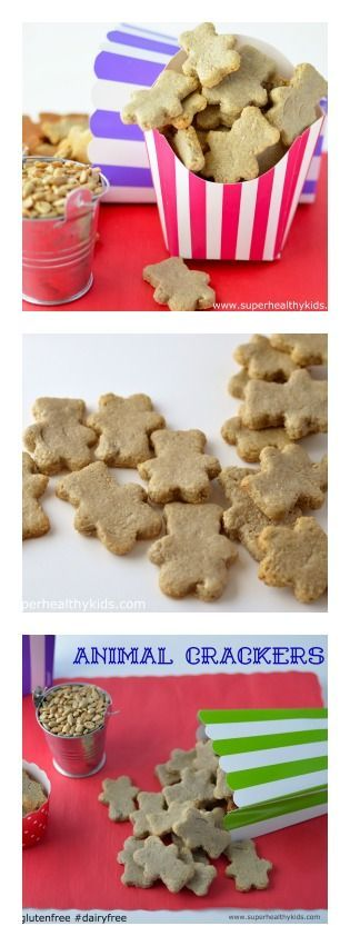 Homemade and healthy, these animal crackers are nut-free, dairy free, and gluten free From @healthykids