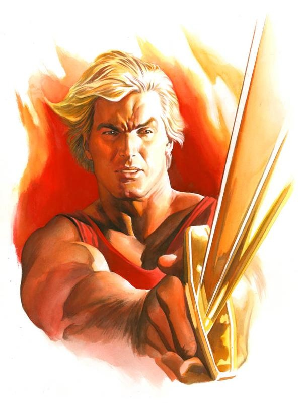flash gordon-alex ross- and don't forget the soundtrack by Queen!!