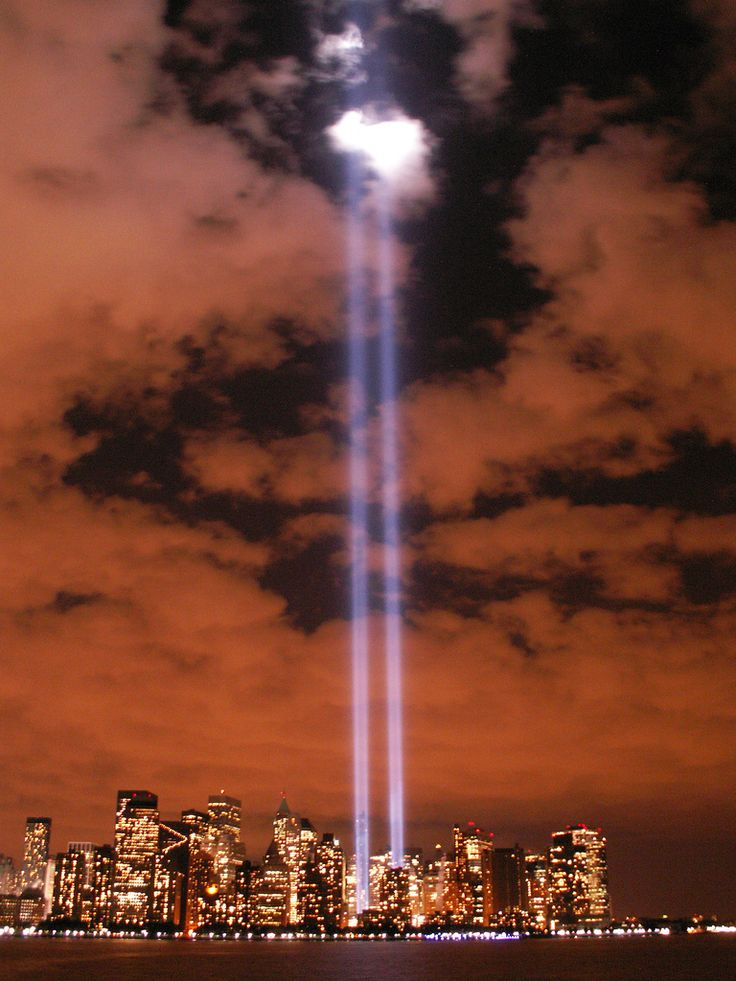 Tribute in Lights from Battery Park | by Sister72, via Flickr
