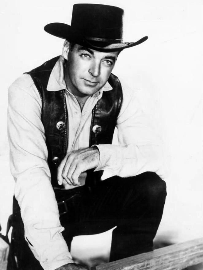 Here's one many of you should recall, Rory Calhoun - this is a pub still from his TV show for CBS The Texan - it was on 1958-1960. He had been in a ton of western films in the 50s so this was no stretch for me to see him in this show. He was in a lot of TV shows as a guest in the 60s-70s esp and had one more brief TV series called The Capitol. ('82--86). - He was quite the Hollywood cad in his days.