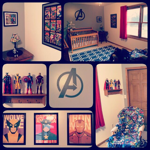 Marvel / Avengers nursery decor!!