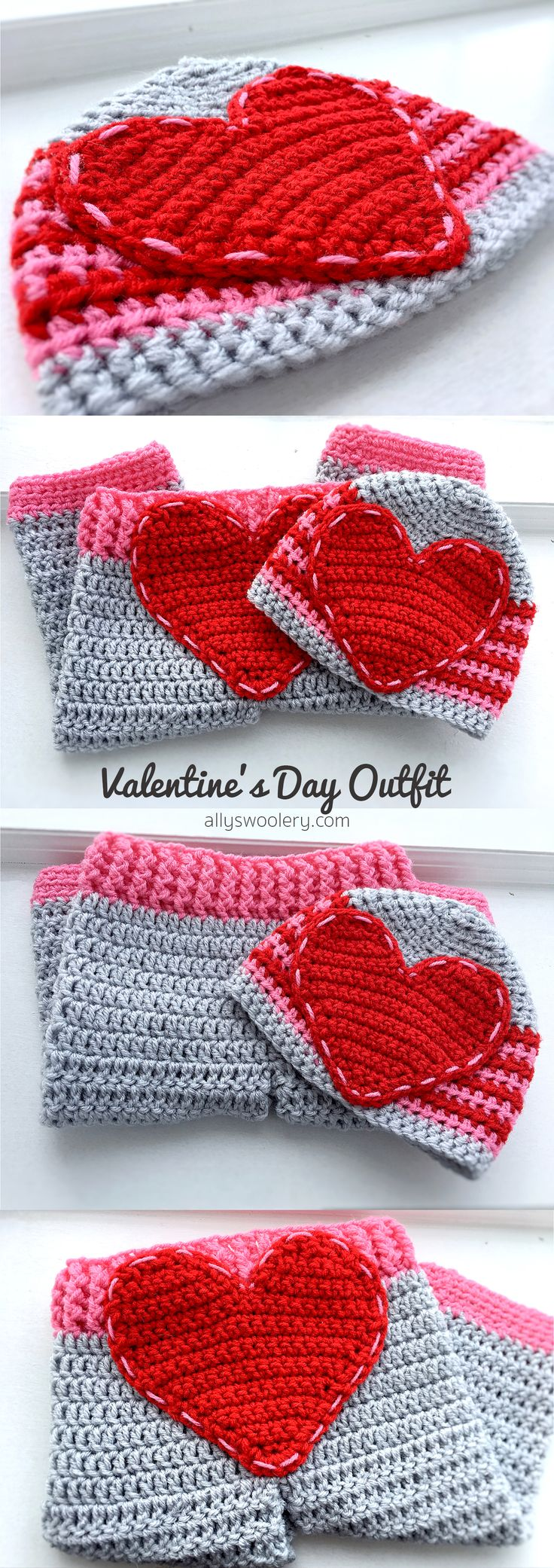 12 month - Valentine's Day Outfit (Pants & Hat) ❤
