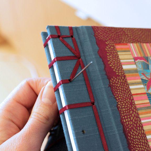 Japanese stab binding hempleaf stitch by Ruth Bleakley | Flickr - Photo Sharing!