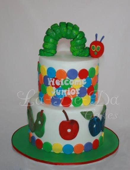 The Very Hungry Caterpillar Cake by La-De-Da Cakes, Point Cook, Victoria, Australia. You'll find this Cake Appreciation Society Member in our Directory at www.cakeappreciationsociety.com