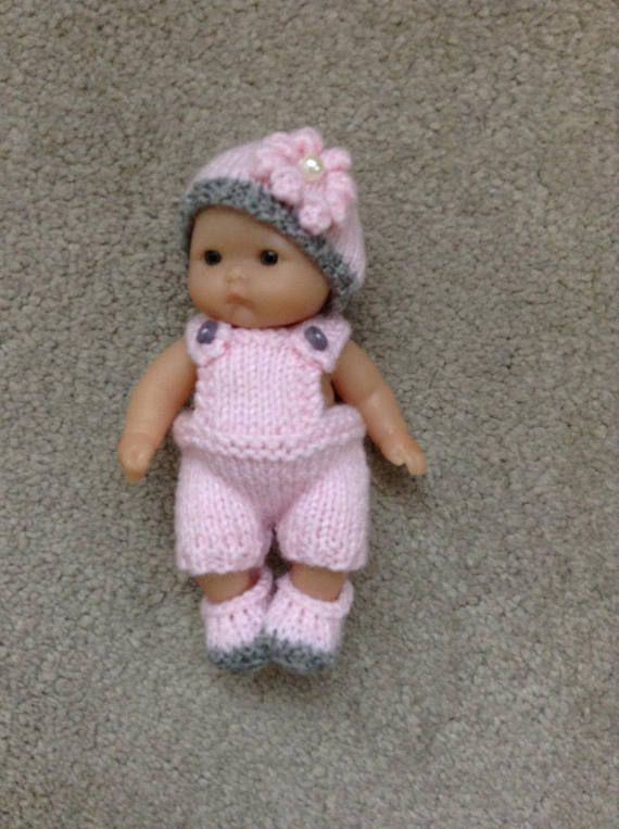 Hand Knitted Dolls Outfit To Fit A 5 Berenguer Itty Bitty