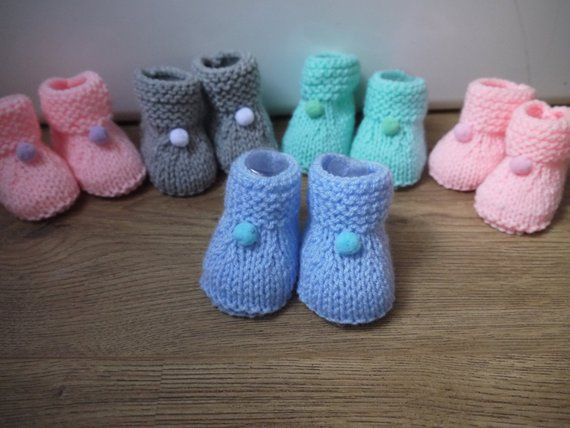 975086bd97f1f Baby booties wool tassel color choices