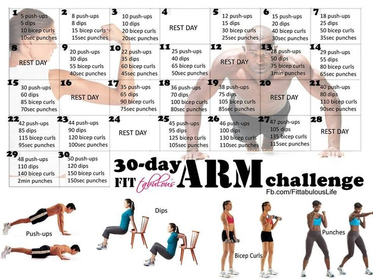 Challenge your arms.