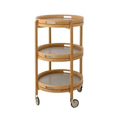 Tablettwagen aus Bambus, mit Rädern, 81cm - Bloomingville | SCHÖNER WOHNEN | SCHÖNER WOHNEN