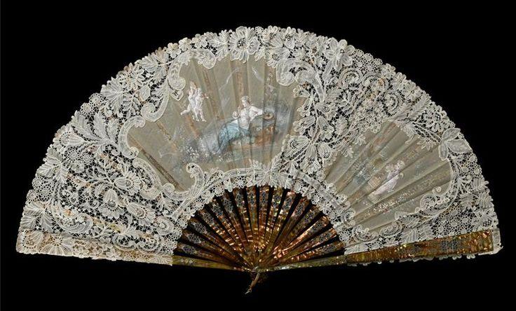 Victorian fan, lace