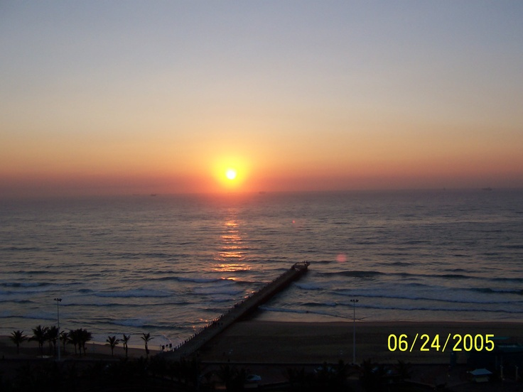 Durban South Africa -- looking out over the Indian Ocean