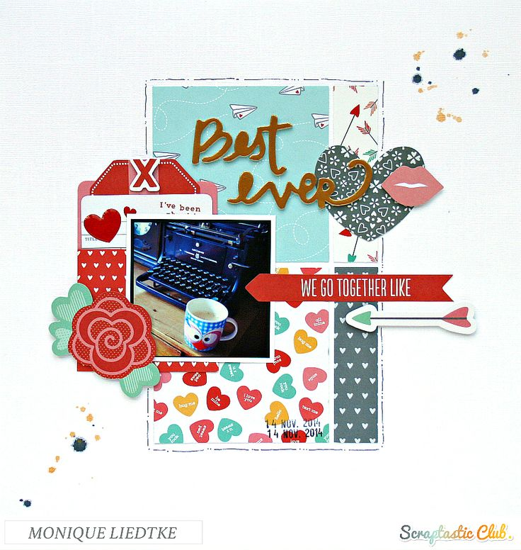 Layout created for the Scraptastic Store by Monique LIedtke using Pebbles' We Go Together collection.  #Pebbles #Scraptastic