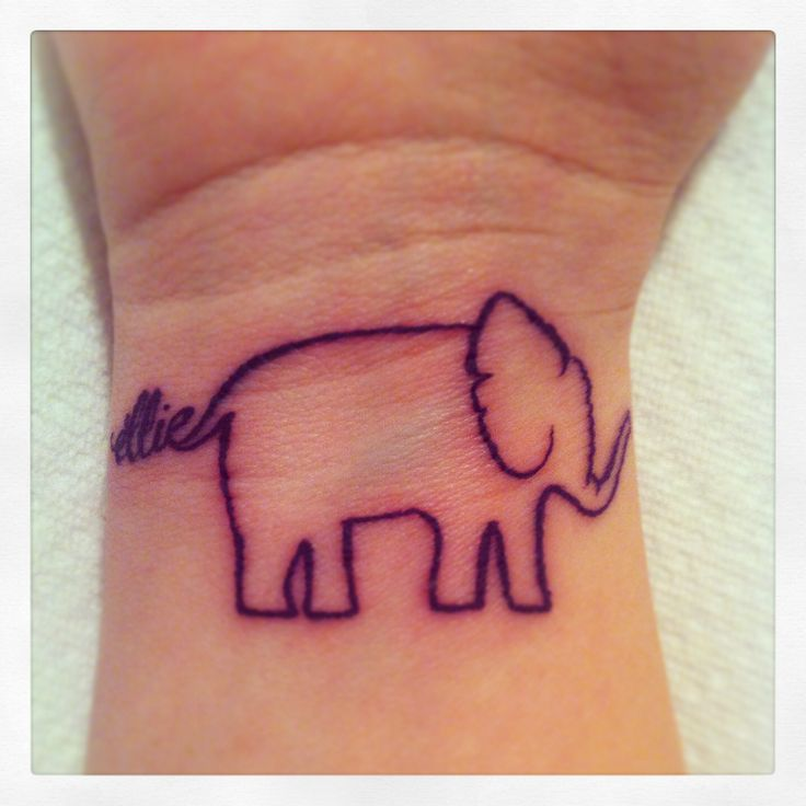 My Elephant Tattoo For My Baby Girl :)