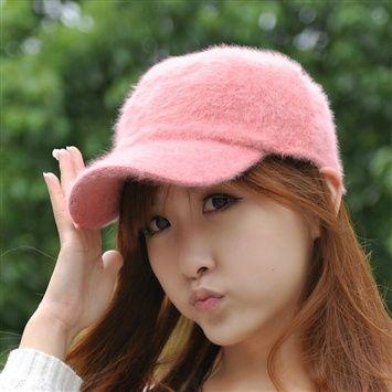 New Rabbit Fur Hats Men's Autumn And Winter Baseball Korean Wave Cute Fashion Ladies Winter Caps