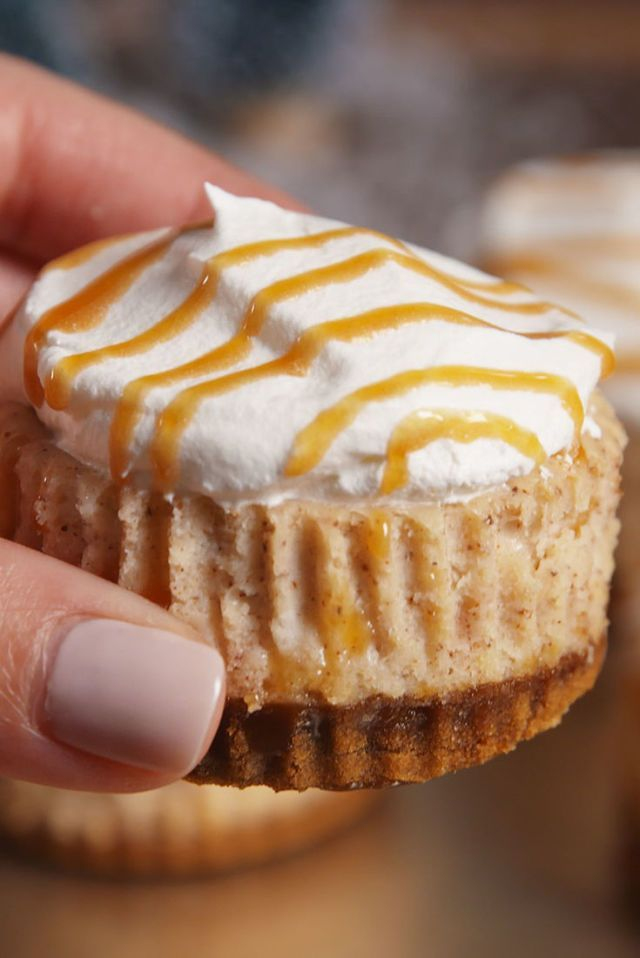 Mini Eggnog Cheesecakes  - Delish.com