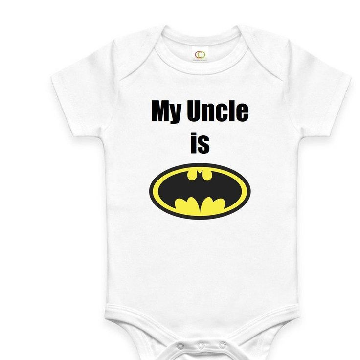 My Uncle is Batman Onesie - http://www.babies-clothes.info/my-uncle-is-batman-onesie.html