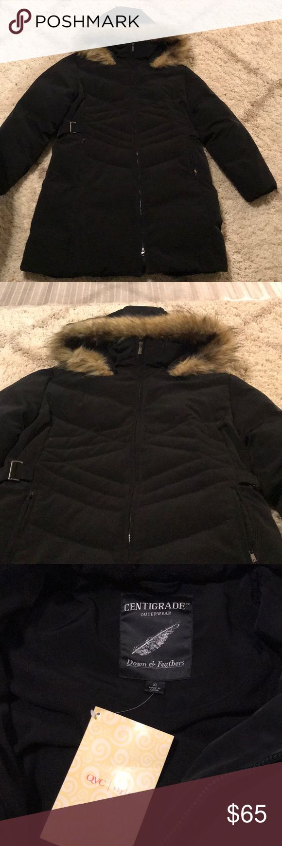 New Black Centigrade Coat Down Feathers Size Xl New Black Clothes Design Jackets For Women [ 1740 x 580 Pixel ]