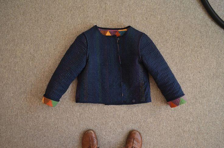 Reversible quilted jacket made by Ellie Livermore