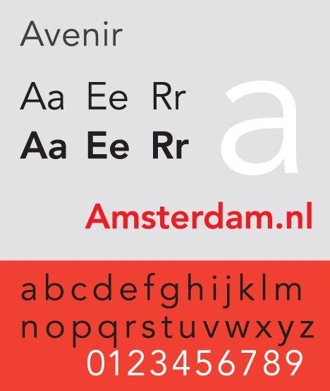 Avenir Amsterdam lettertype