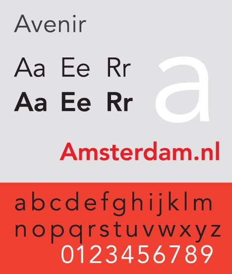 Avenir - Adrian Frutiger - 1988 - Swiss #typography