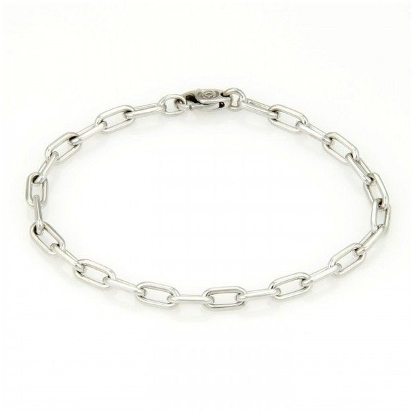 Pre-owned Cartier 18k White Gold Spartacus Link Bracelet featuring polyvore, women's fashion, jewelry, bracelets, white gold jewelry, 18k white gold bangle, white gold bangle, cartier jewelry and 18k white gold jewelry