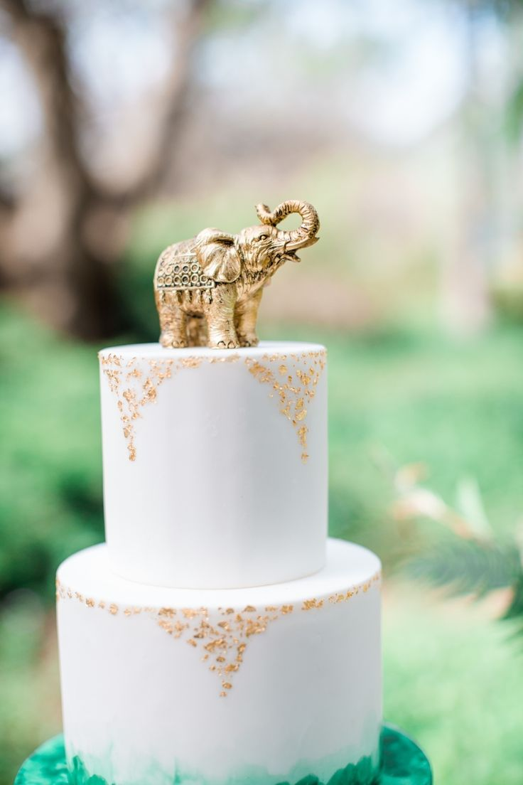 Gold Elephant Thai East Asian Wedding Theme Photography : Elisabeth Arin Photography Read More on SMP: http://www.stylemepretty.com/california-weddings/2015/06/06/colorful-boho-wedding-inspiration-for-the-world-traveler/