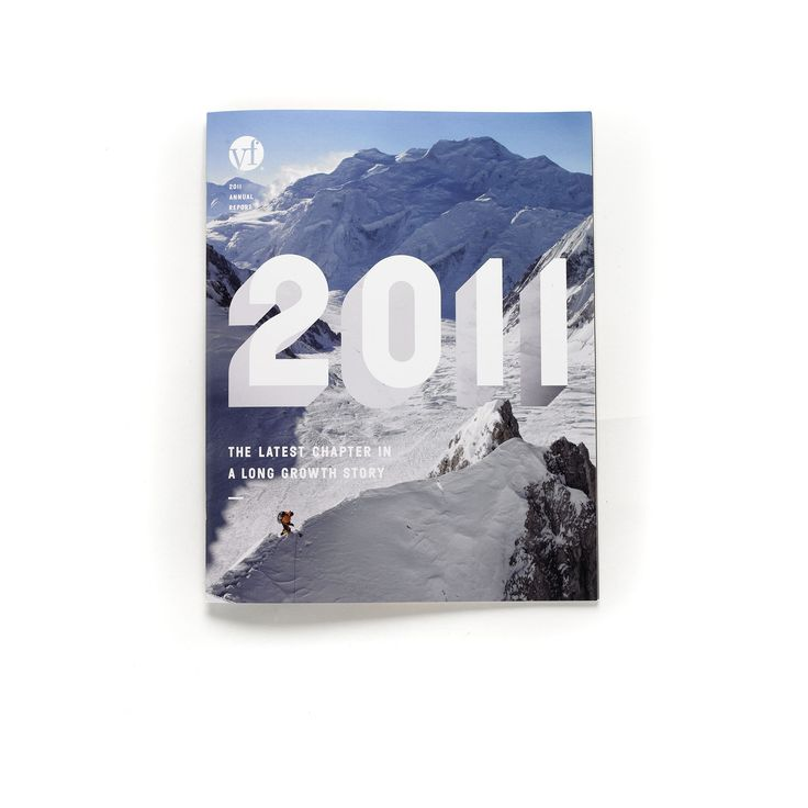 Nice. A balanced modern look, not too hipsterish. Cover Annual Report 2011 of brands holding VF Corporation.