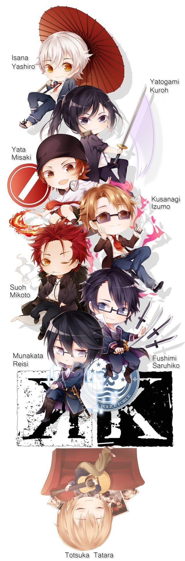 K Project Chibi Characters