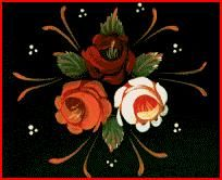 instruction to paint folk art roses | Roses and Castles - folk art of the canals