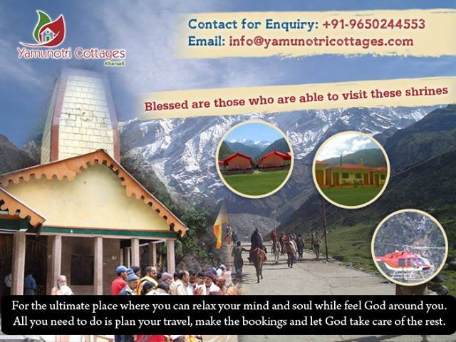 For the ultimate place where you can relax your mind and soul while feel God around you. All you need to do is plan your travel, make the bookings and let God take care of the rest. Get more details visit at http://yamunotricottages.com