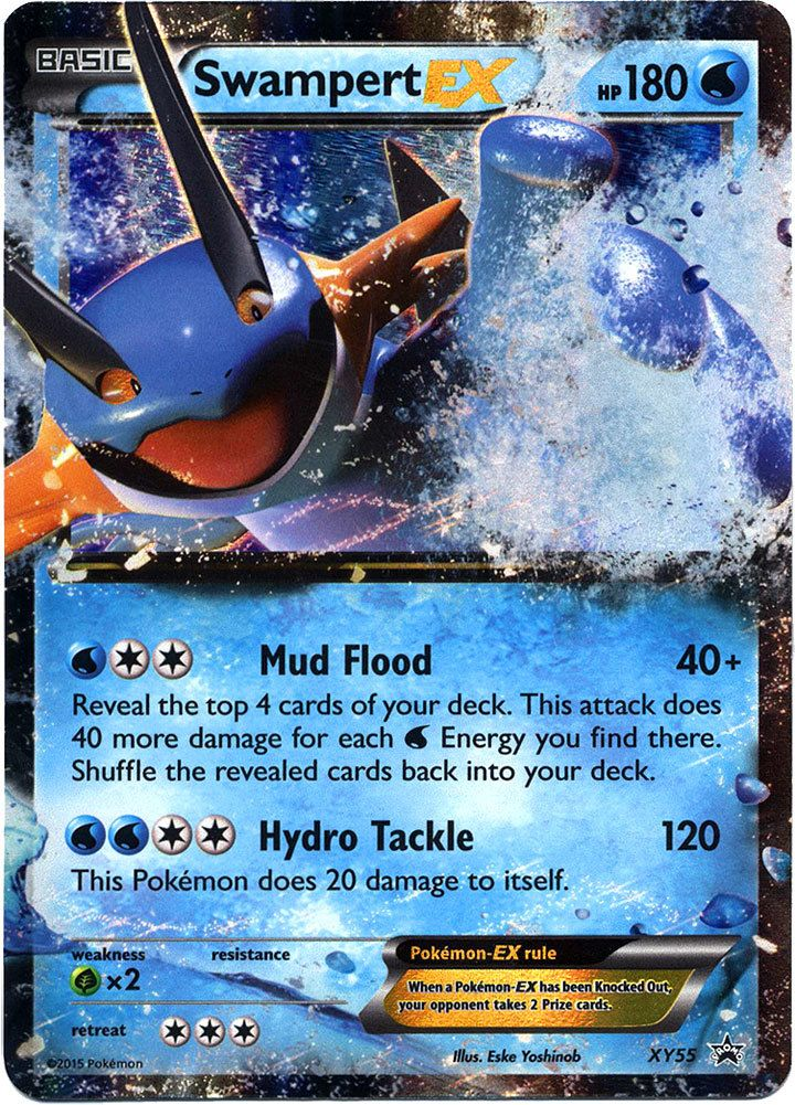 Pokemon X & Y Promo Ultra Rare Holo Swampert-EX XY55