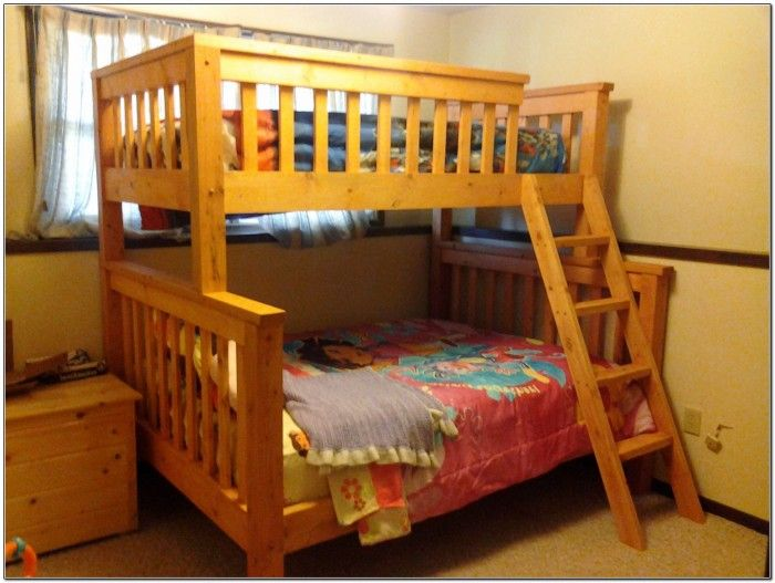 twin over queen bunk bed plans woodworking projects plans. Black Bedroom Furniture Sets. Home Design Ideas