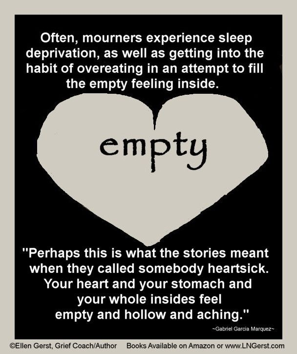 Filling The Emptiness Words Of Comfort Feeling Empty Grief