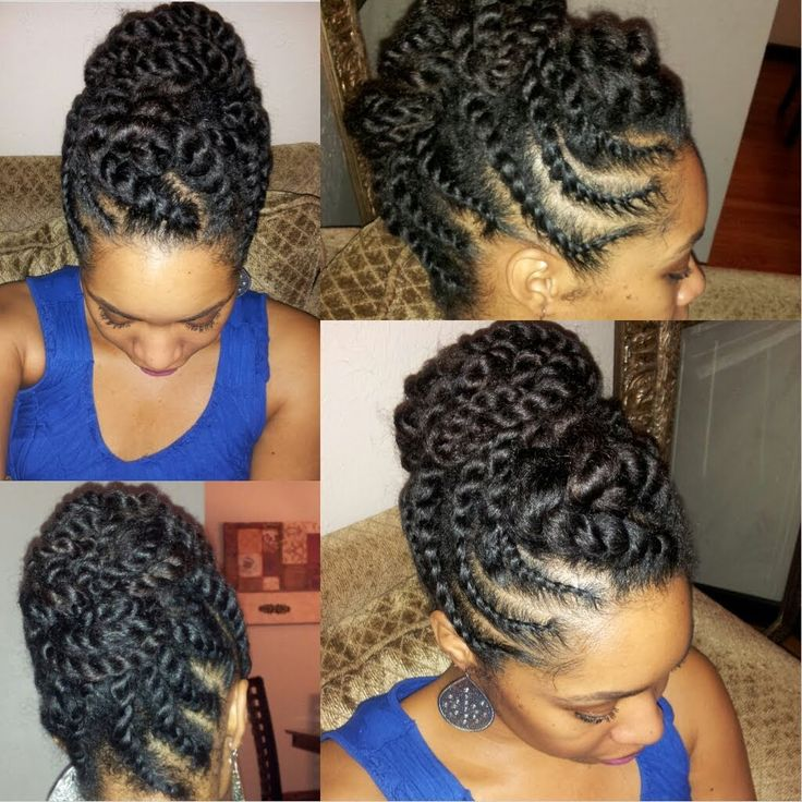 Natural Hair Flat-twist Updo Protective Style [Video] - http://community.blackhairinformation.com/video-gallery/natural-hair-videos/natural-hair-flat-twist-updo-protective-style-video/