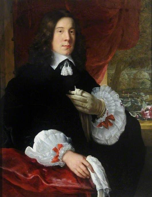 1650-1656, Portrait of a Gentleman. John Michael Wright (1617–1694) (school of). The Cooper Gallery.