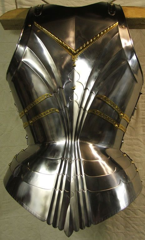 Rear view of the torso on Will West replica of the armour made by Lorenz Helmschmied of Augsburg for Archduke Sigismund of Tyrol in 1485