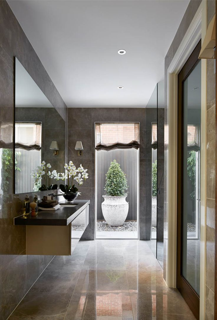 Focal point draws the eye and helps the room feel longer than it is.Bathroom - Metricon, Maison Classique - Bordeaux